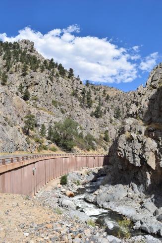 Slot canyon on the way to Estes Park